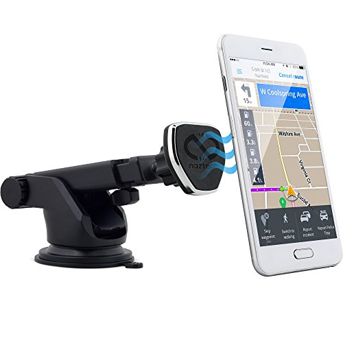Naztech MagBuddy Dash Universal Magnetic Phone Car Mount, Fully Adjustable Telescopic Holder with Insta-Lock Technology for iPhone and Android Mobile Devices, Smartphones, Cell Phones, Tablets and GPS by Naztech