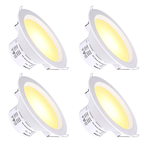 6'' LED Recessed Light with J-Box Adjustable Color Temp 10W Non-Dimmable LED Downlight for 100W Replacement, 1100 Lumens, 3000K/4000K/5000K, AC Power Plug, IC-Rated and Air Tight - Pack of 4 by Miady (Image #7)