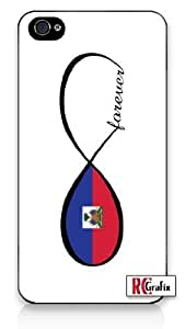 Forever Infinity Haitian Haiti National Flag iPhone 5C Quality Hard Snap On Case for iPhone 5C - AT&T Sprint Verizon - White Case wangjiang maoyi