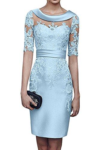 3c657300604 La mia Braut Schwarz Damen Spitze Langarm Knielang Abendkleider  Brautmutterkleider Jugendweihe Kleider Etuikleider Himmel Blau xv4L1ka