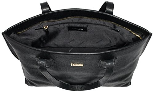 H Pollini Damen x Schwarz Schultertaschen x Pollini SC4549PP02SF0000 26x42x14 B T Black cm Bag nfxnz1T