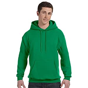Hanes Men's Fleece Full Cut Hood Pullover Hoodie, Purple, Large
