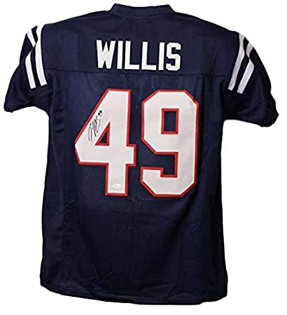 1f7d1889ed0 Patrick Willis Autographed Signed Ole Miss Rebels Blue XL Jersey at ...