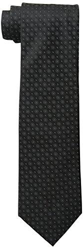 Calvin Klein Men's Black Tie, Black Dot II, One -