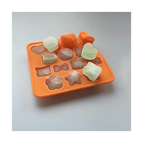 Hosaire - Stampo in silicone per torte, biscotti, gelati, pasticceria, cioccolato, fondente, 3D, a forma di coniglio e… 3 spesavip