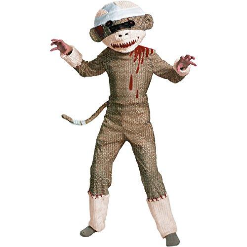 Zombie Sock Monkey Costume - Large -