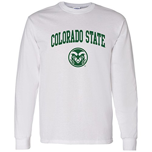 UGP Campus Apparel AL03 - Colorado State Rams Arch Logo Long Sleeve - X-Large - (White Logo Arch)
