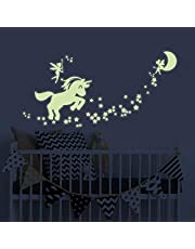 BENBO Unicorn Wall Decals Glow in The Dark Unicorn Stars Fairytale Fairy Wall Stickers DIY Kids Girls Bedroom Home Nursery Room Wall Mural Decor (Unicorn 1)