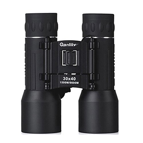 Luwint Qanliiy 30 x 40 HD Powerview Compact Folding Roof Prism Binocular for Hunting Hiking Bird Watching Concerts(Black)