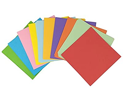 yueton 100 Sheets Colorful Square Double Sided Origami Folding Lucky Wish Paper - 5.75.7""