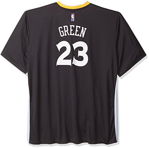 NBA Golden State Warriors Draymond Green #23 Men's Replica Alternate Road Jersey, 4X-Large, Black