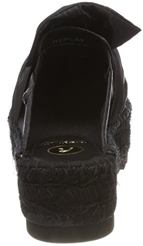 Loly Women's Replay 003 Espadrilles Black Black A766S0wq