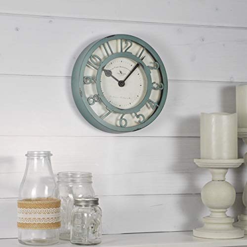 FirsTime & Co. 99663 Sage Raised Wall Clock 8