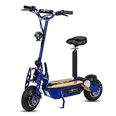 ECOXTREM Patinete, Scooter Tipo Moto Eléctrico, Plegable, con Sillin Desmontable, Luz Foco y luz LED de Freno. Ideal para desplazamientos urbanos. ...