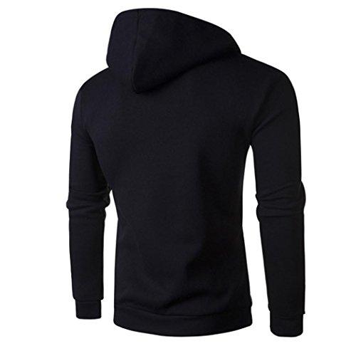 Negro de de hombres chaqueta sudadera los con la Outwear larga de 1 de capucha la de la La manga las retro OverDose tapas chaqueta OUnqBOwR
