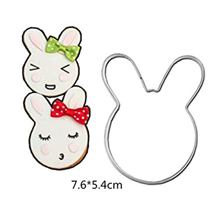 amazon com 1 piece bunny rabbit shape fondant cake stencil kitchen