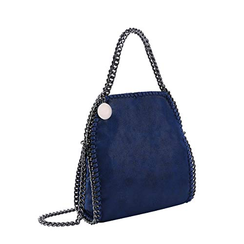 Crossbody Tote Bags for Women-J&K Fashion Synthetic Leather Clutch Purse bag Hobo Handbags with Classic Metal Chain ()