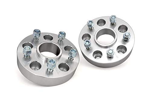 Rough Country - 1091 - 1.5-inch Wheel Spacer Pair (5-by-5-inch Bolt Pattern) for Jeep: 06-10 Commander XK 4WD/2WD, 99-04 Grand Cherokee WJ 4WD/2WD, 05-10 Grand Cherokee WK 4WD/2WD, 07-17 Wrangler JK 4WD, 07-17 Wrangler Unlimited JK 4WD/2WD