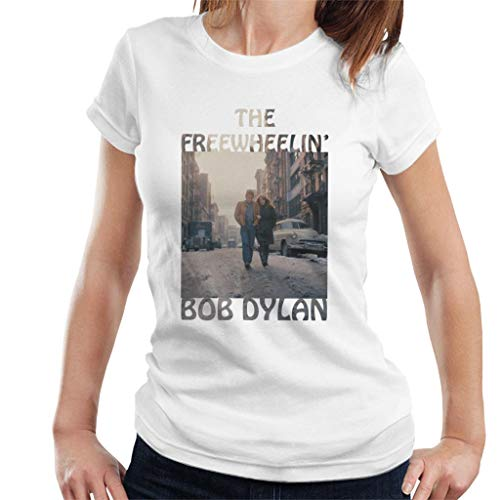 Bob Dylan The Freewheelin Women's T-Shirt White