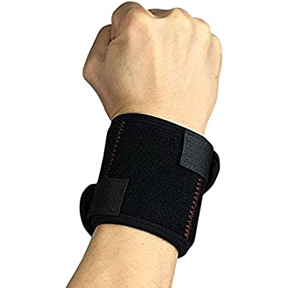 Sports Wristbands Wristguards Bundled Banded Spring Support Pressurized Bracers Black Adjustable for Men Women Badminton Basketball Weightlifting Arthritis and Carpal Tunnel Estimated Price £15.93 -