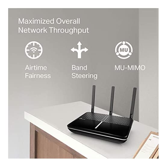 TP-Link AC2600 Smart WiFi Router - High Speed MU-MIMO Router, Dual Band, Gigabit, Beamforming, VPN Server, Smart Connect… 416d5ElnqnL. SS555