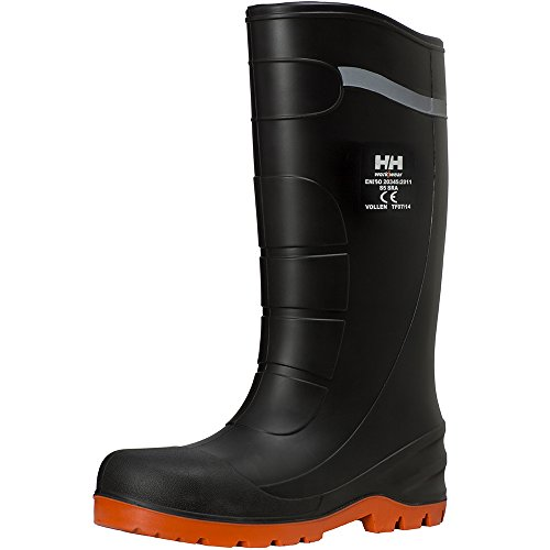 Helly Hansen Mens & Womens/Ladies Vollen PU S5 SRA Work Safety Boots Negro - negro/naranja