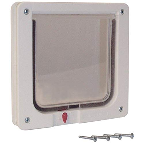 Ideal Pet Products Cat Flap Door with 4 Way Lock, 6.25″ x 6.25″ Flap Size