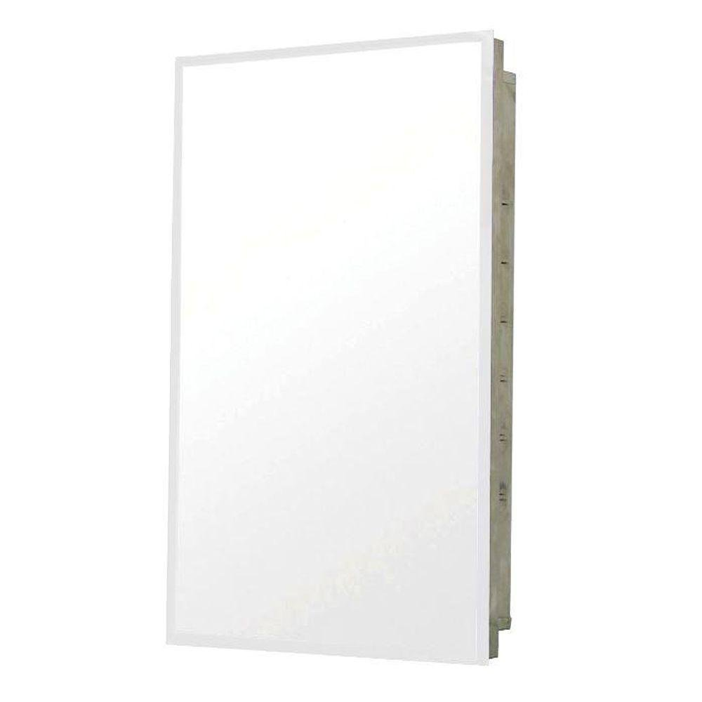 Pegasus SP4591 Deco 20-Inch Mirrored Medicine Cabinet, Stainless Steel