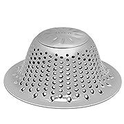 #LightningDeal LEKEYE Drain Hair Catcher/Bathtub Shower Drain Cover/Stainless Steel Drain Protector/Shower Drain Hair Trap-Silver