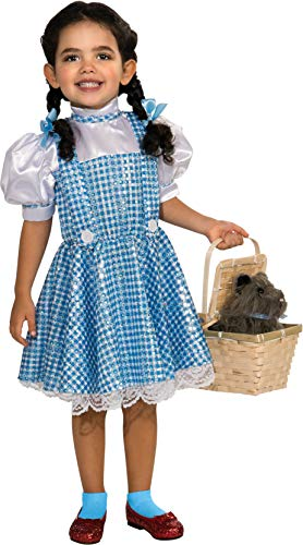 Wizard of Oz Dorothy Sequin Costume, Toddler 1-2 (75th Anniversary Edition) ()