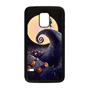 CeeMart The Nightmare Before Christmas Pattern Plastic Hard Case TPU Phone case cover for Samsung Galaxy S5 Mini black