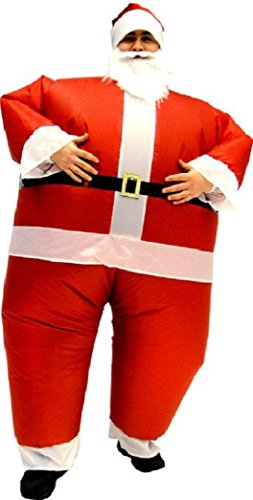 Chub Suit Inflatable Blow up Full Body Jumpsuit Costume (Santa) - Ellen Costumes For Halloween