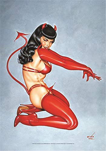 Bioworld Betty Page Devil large fabric poster/flag 44