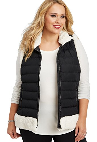 Womens Poly Fill Quilted Vest - 3