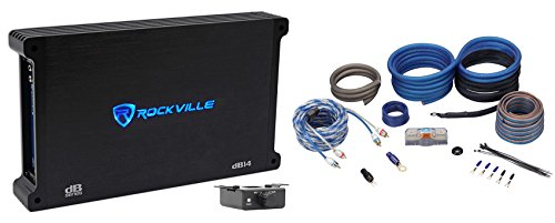 Rockville dB14 4000w Peak/1000w RMS @ 2 Ohm CEA Compliant Mono Car Amplifier+Amp Kit