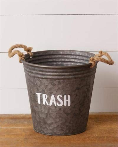 Stylenana Country Metal Tin Trash Bucket with -