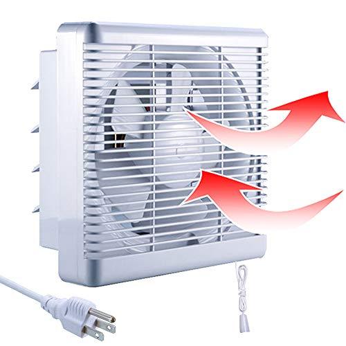 "SAILFLO 10 Inch Exhaust Shutter Fan 2-Way Linkage Blower 470 CFM Strong Reversible Airflow Wall Mounted Ventilation Fan for Vents Attic Kitchen Bathroom Basement 10"" Diameter Propeller-14""×14""Panel"