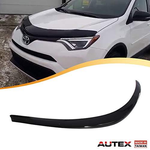 AUTEX Hood Shields Bug Deflector Fits for 2013 2014 2015 2016 2017 2018 Toyota Rav4 Hood Protector Deflector