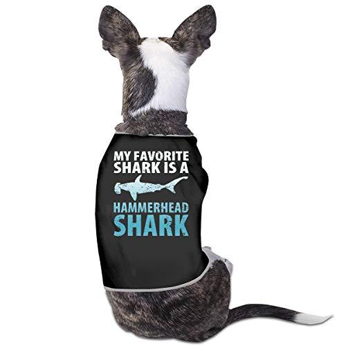 My Favorite Shark is A Hammerhead Shark Dog Cat Vest Pet Sleeveless T-Shirt Jacket Sweater -