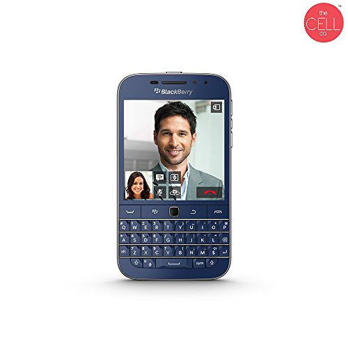 BlackBerry Classic SQC100-4 Blue Limited Edition Factory Unlocked (Blackberry Handsets)