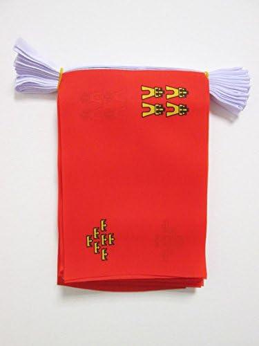 AZ FLAG Guirnalda 6 Metros 20 Banderas de la REGIÓN DE Murcia 21x15cm - Bandera MURCIANA 15 x 21 cm - BANDERINES: Amazon.es: Jardín