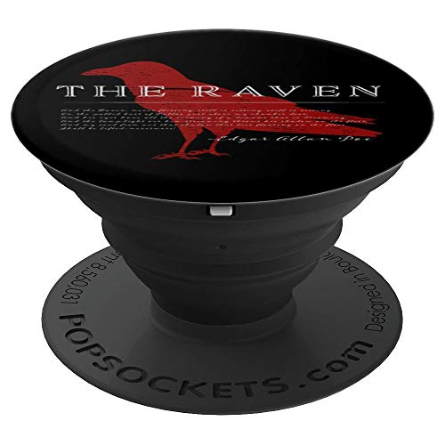 Edgar Allan Poe The Raven Phone Grip - PopSockets Grip and Stand for Phones and Tablets ()
