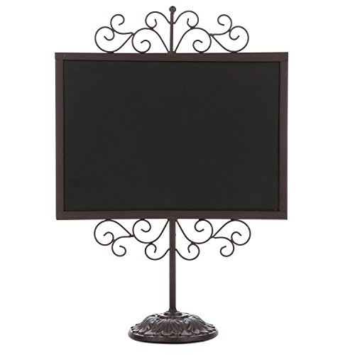 stylish-vintage-brown-metal-frame-semi-permanent-chalkboard-display-sign-stand