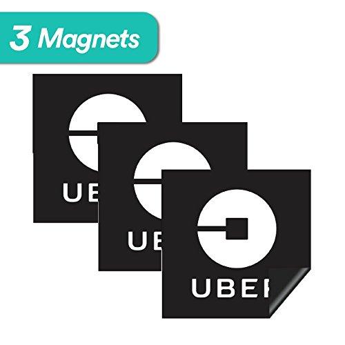 Uber Sign Magnet - 3 Premium Magnets Bulk Pack - [5