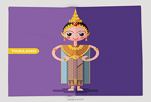 Thailand National Costume Female (Supersoft Fleece Throw Blanket Thailand National Costumes In Flat Style 465805451)