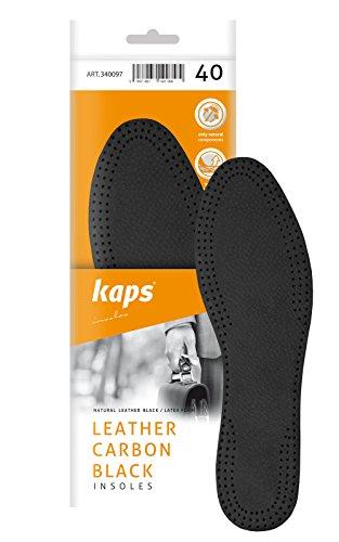 Schuheinlagen, Einlegesohlen Leder, Leather Carbon - No. 10098 Schwarz
