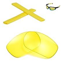 Walleva Replacement Lenses Or Lenses/Earsocks for Oakley Split Jacket Sunglasses - Multiple Options