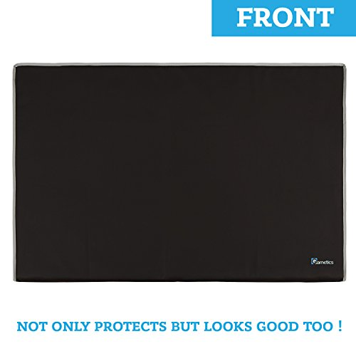 """Outdoor TV Cover 48"""", 49"""", 50"""" - Universal Weatherproof Protector for Flat Screen TVs - Fits most TV Mounts and Stands - Black"""