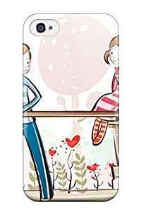 AWU DIYLJF phone case Cute Appearance Cover/tpu JTABUiC3010CtKOO Love Is All About Care Respect And Understanding Case For Iphone 4/4s