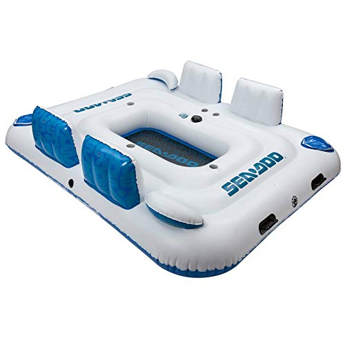 New Sea-Doo 6 Person Inflatable Island with Built-in Bluetooth - Sea Inflatable Doo